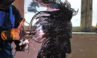 darius hulea wire sculpture